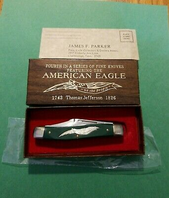 American Eagle Parker Schrade Walden Cut. E4 USA 1743 Thomas Jefferson 1826