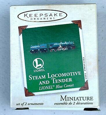 Hallmark Miniature Ornament Lionel Steam Locomotive and Tender Train Set 2003