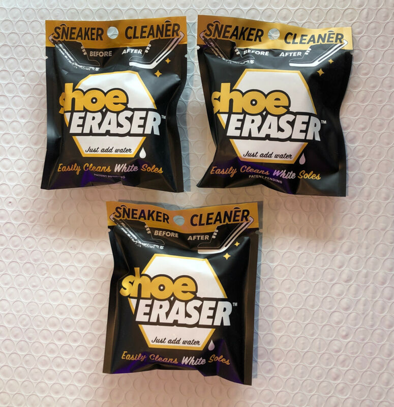 ( 3 SHOE ERASER)- SNEAKER CLEANER - GREAT for white soles  Just Add Water