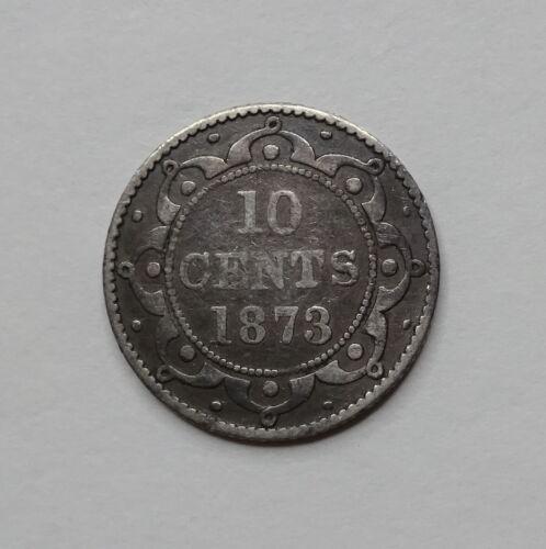 1873 Newfoundland Canada Silver Dime 10 Cents - Low-Mintage!