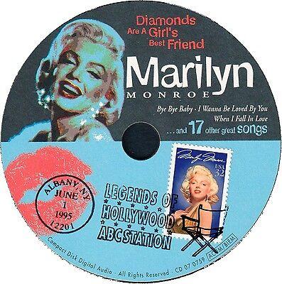 Marilyn Monroe CD, 20 tolle Songs, mit Original Monroe-Briefmarke USA, 917372