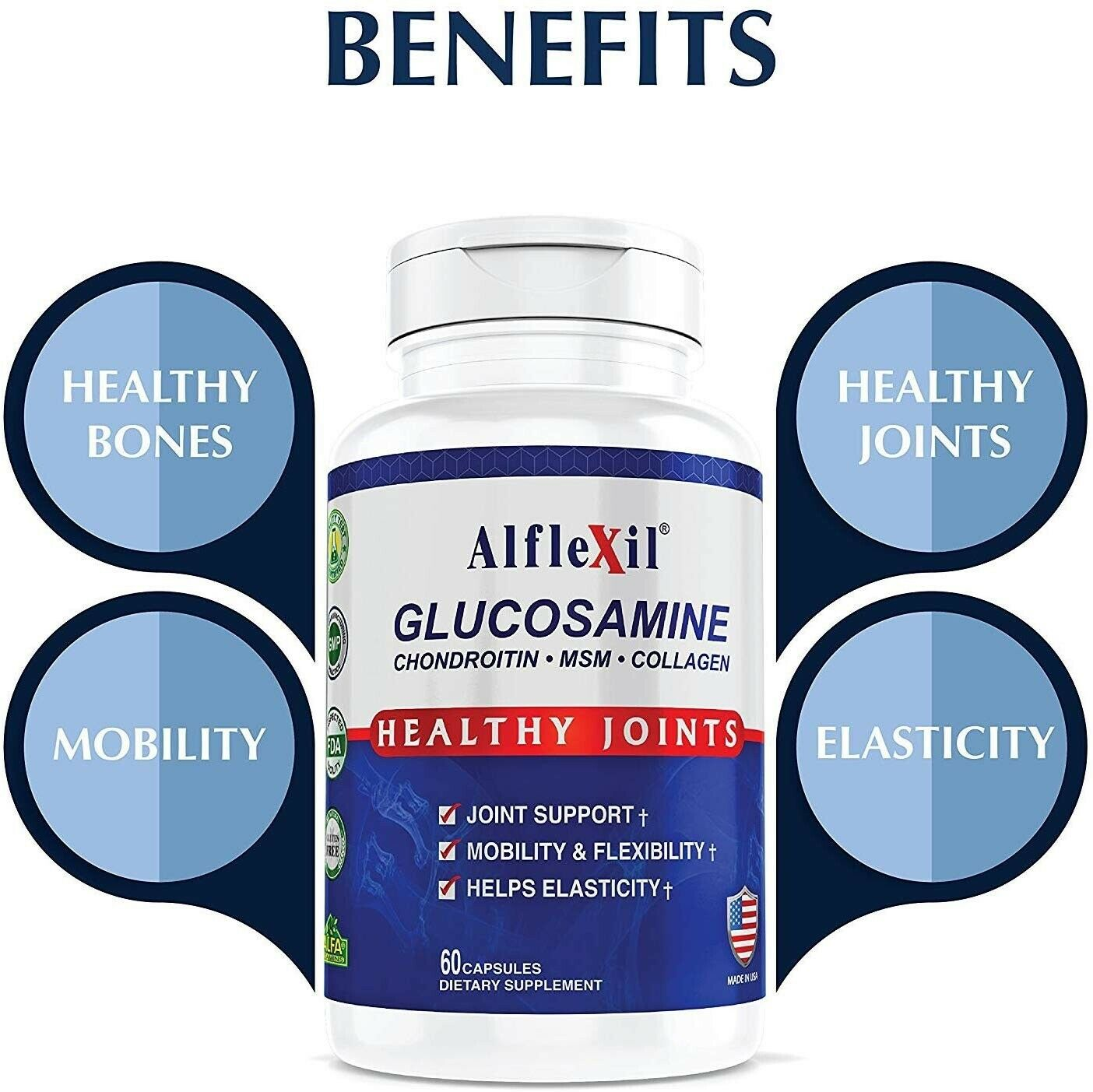#1 Colageno Glucosamina Condroitina Acido Hialuronico Alivia Articulaciones 2850 2