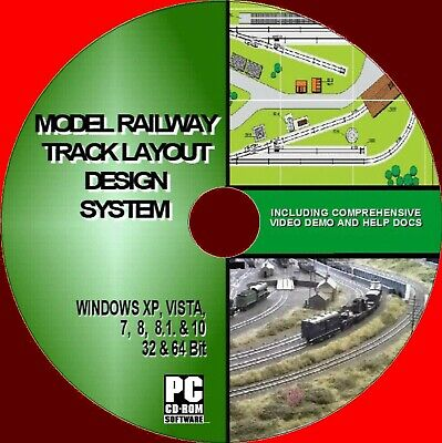 MODEL RAILWAY BEST TRACK LAYOUT DESIGN SOFTWARE ALL SCALE/GAUGES NEW WIN