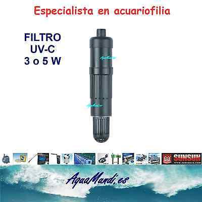 esterilizador filtro UV C SUNSUN CUV 303 lampara acuario luz algas plagas...