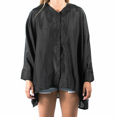 Women's PUMA x HUSSEIN CHALAYAN UM Silk Shirt Black size M $138