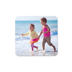 Personalised Square or Round Hardboard Coasters Any Text, Photo, Logo or Image