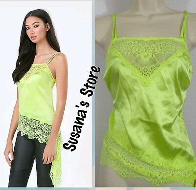 NWT BEBE LACE & SILK ANGLED CAMI SIZE M So-romantic silk charmeuse MSRP$80.00+