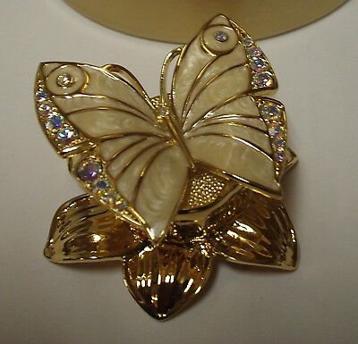 "Estee Lauder Solid Perfume Compact ""Enchanted Butterfly"" in Both Boxes!"