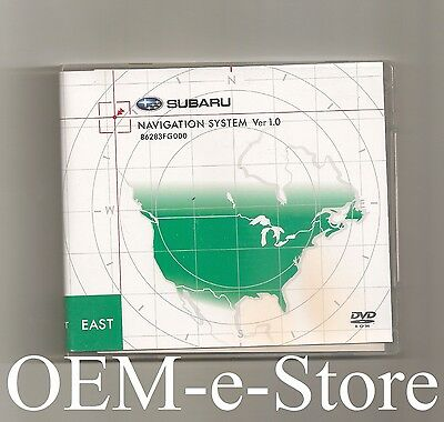 2008 2009 2010 Subaru Impreza WRX STI Forester GPS Navigation DVD EAST Coast Map