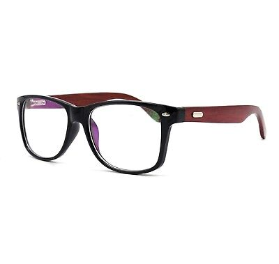 Fashion Mens Wooden Glasses Frame Oversized Eyeglass Frames Rx-able (Oversized Spectacle Frames)