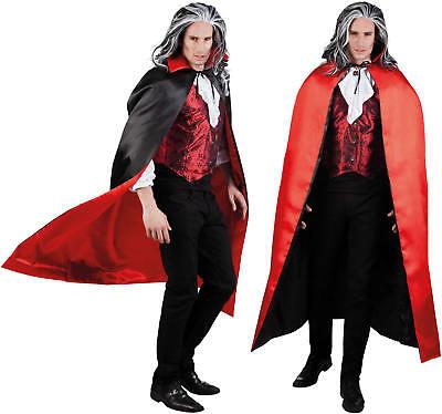 Cape Sundown Teufel Wende Umhang rot schwarz Karneval Halloween Kostüm 150cm (Rote Halloween Cape)
