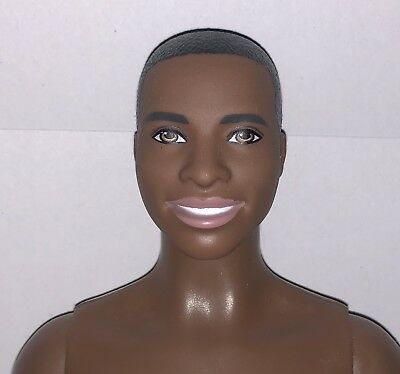 AFRICAN AMERICAN FASHIONISTA #18  KEN DOLL NUDE WITH BROAD BODY