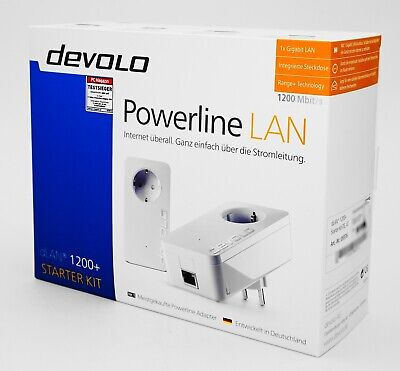 Devolo dLAN 1200+ LAN AC Starter Kit - Powerline - 2er Set - weiß - Neu & OVP