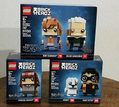 Lego Harry Potter BRICKHEADZ SET Hermoine 41616 41615 41631 New in Box