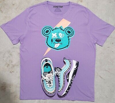 "Nike Air Max 97 1 Have A Nike Day ""GOOF BEAR"" LAVENDER Smheart Money SHIRTS"