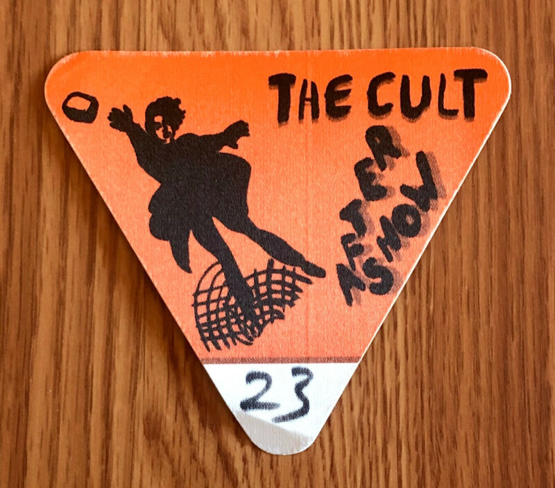 The Cult Backstage Pass Sticker 2019