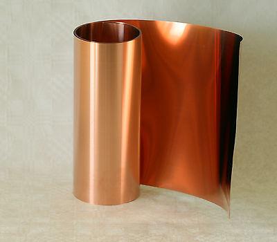 Kupferfolie,Kupferband,Kupferblech 0,1 x 200 mm, 1,0 m Rolle