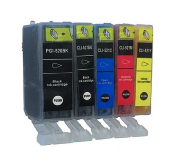 5 Printer Cartridges choose colour for Canon Pixma mx870 MX 870 mx870 with CHIP