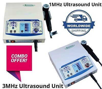 Prof Combo Ultrasound 1mhz 3mhz Therapy Unit Massager Machine Fast Shipping
