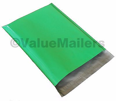 100 7.5x10.5 Green Poly Mailers Shipping Envelopes Bag Couture Boutique Bags