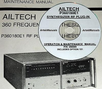 Ailtech P360180e1 Rf Plug-in Operating Service Manual