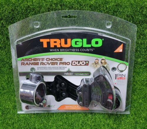 TruGlo Range Rover Pro Duo R/G Dot Archery Bow Hunting Sight, Black - TG6402GB