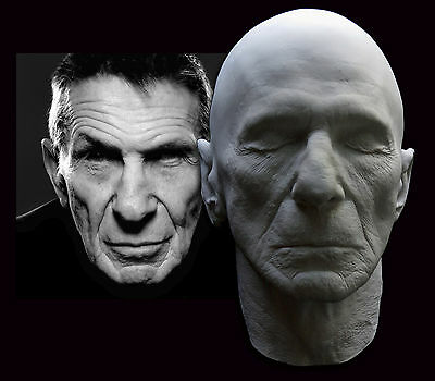 Leonard Nimoy Rare Life Mask With Ears Star Trek Mr. Spock Live Long and Prosper