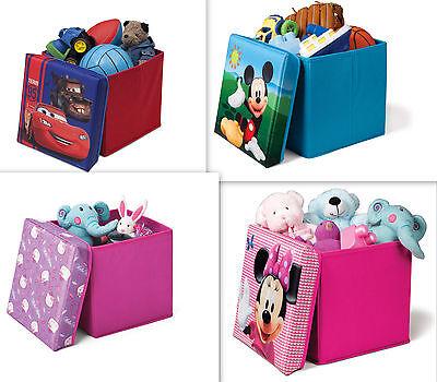Spielzeugkiste + Hocker Auswahl Disney Aufbewahrungsbox mit Deckel Stuhl Kiste