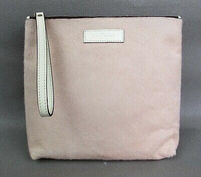 Superb designer J & M Davidson pale pink pony skin Clutch Bag Handbag Wristlet.