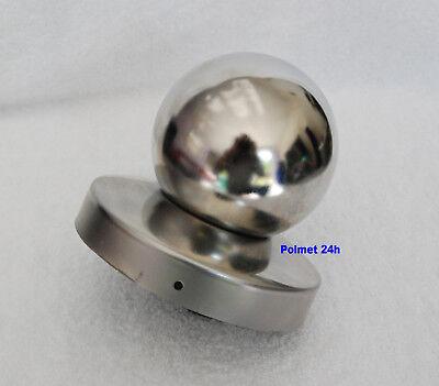 Pfostenkappe aus Edelstahl  Ø 80 mm Durchmesser mit Kugel Ø 80mm , rostfrei  ()