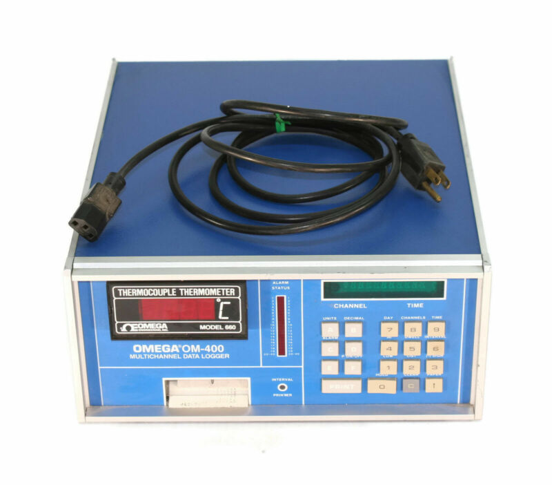 OMEGA OM 400 10 Channel Data Logger W/ Thermocouple Thermometer 660