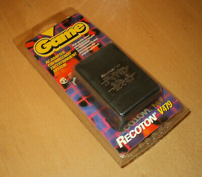 Sammlungsauflösung Nintendo NES 1990 Recoton Power Up AC Adapter NEW blister OVP