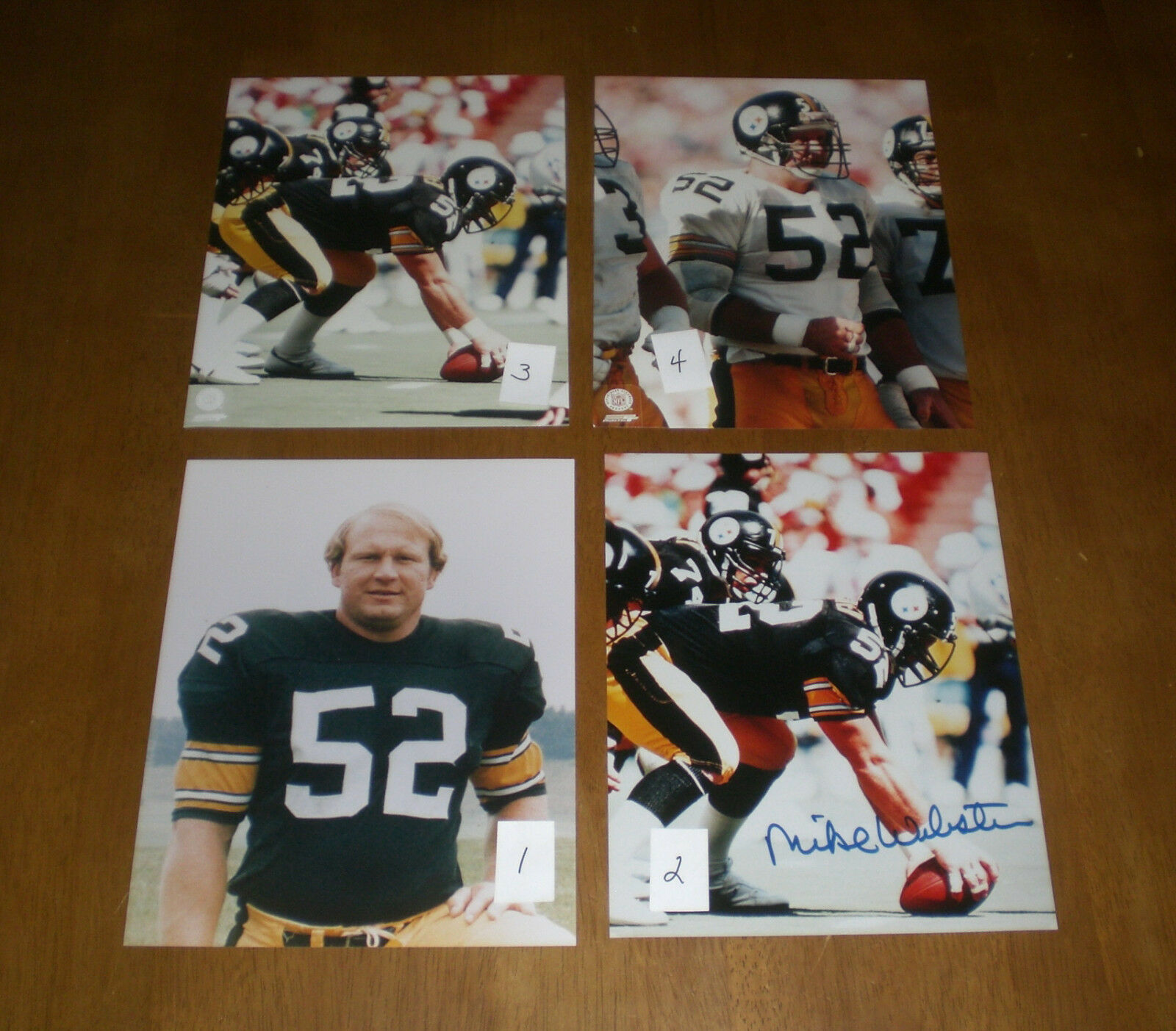 PITTSBURGH STEELERS MIKE WEBSTER COLOR PHOTO - YOUR CHOICE