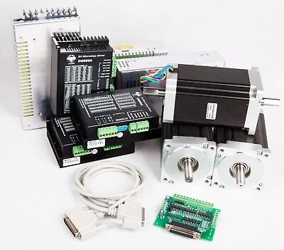 Us Freeship 3 Axis Cnc Kit 1600oz.in Nema34 Stepper Motor Dm860a Driver Cnc Mill