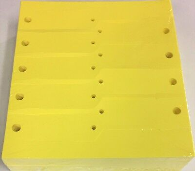 Yellow Vinyl Key Tags - Blank 1000 Qty. (A41) ()