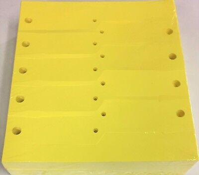 Yellow Vinyl Key Tags - Blank 1000 Qty. A41