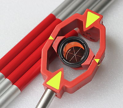 New Mini Prism With 4 Poles For Leica Total Stations Prism Constant -300mm