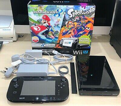 Nintendo Wii U MARIO KART 8 Pack 32GB Black Console IN ORIGINAL BOX