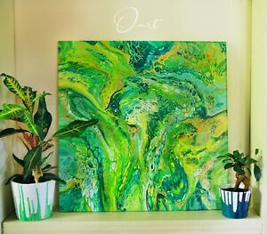 Original Green Acrylic South Australian Art Adelaide CBD Adelaide City Preview