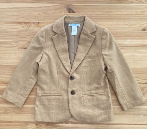 JANIE AND JACK Christmas Cabin Tan Suit Jacket Size 4 4T