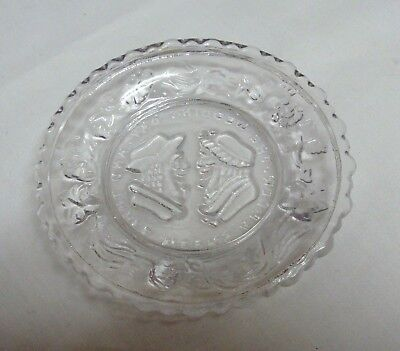 VTG CLEAR MINI PLATE AND 3 WEEKS AFTER THE WEDDING WESTMORELAND EUC