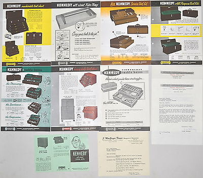 10 Pc Kennedy Tool Machinist Tackle Box Chest Advertisement Lot Letter Rr573