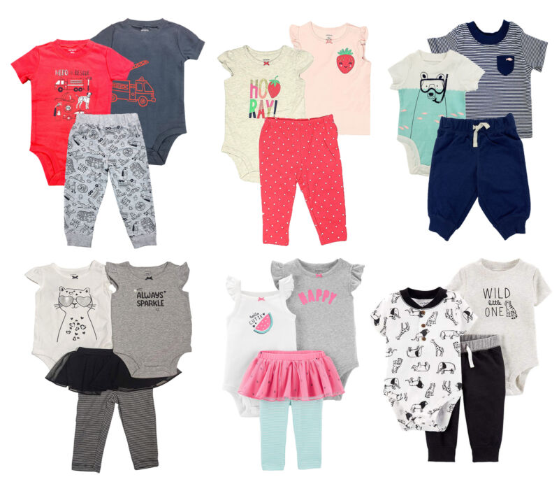 Carters Infants Multi Theme 3 Piece Set