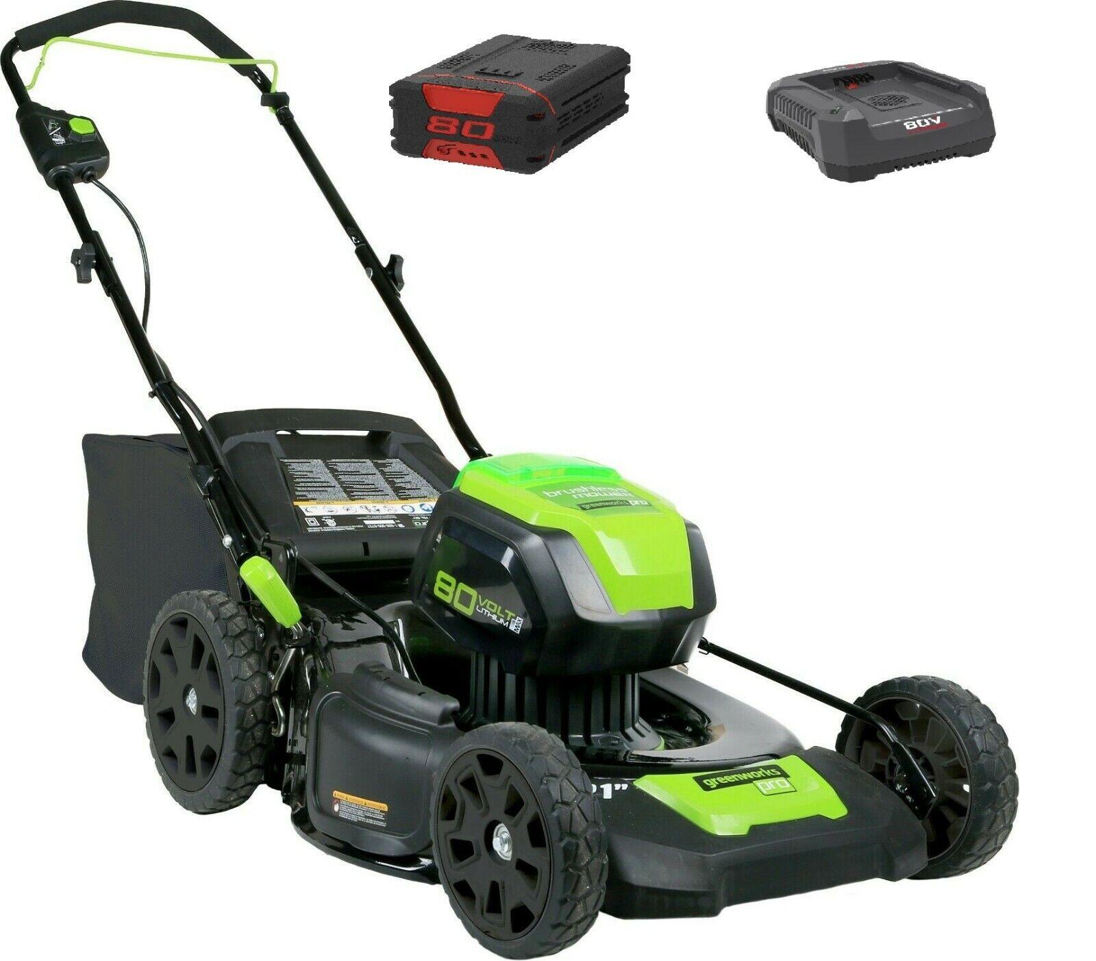 Greenworks 2500707 80V Pro GD80LM53 DigiPro Akku Rasenmäher 1x Akku 1x Ladegerät
