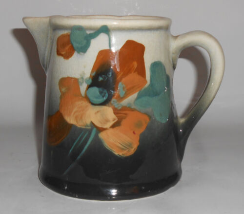 Owens Art Pottery Hand Decorated Lotus Pitcher VERY RARE