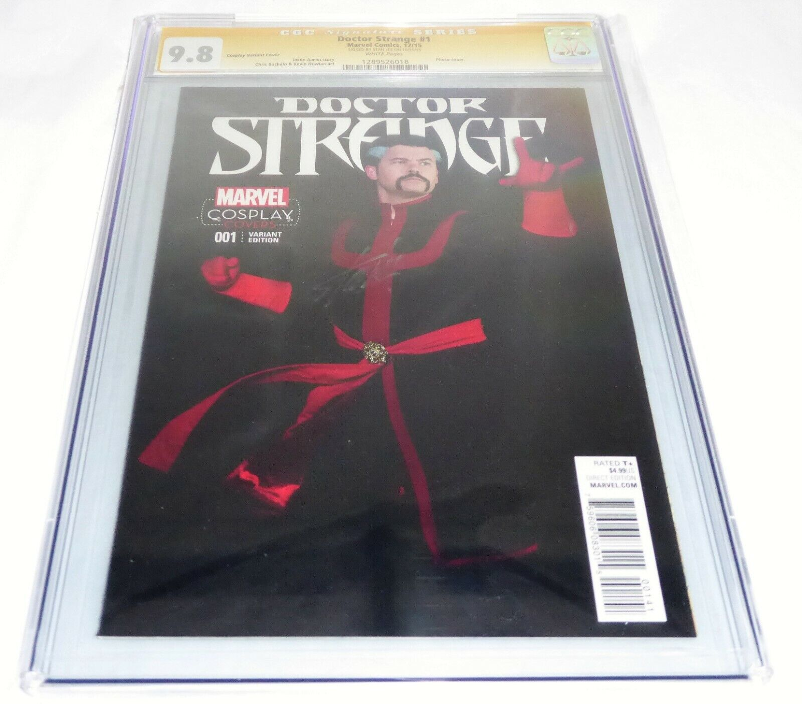 Doctor Strange #1 CGC SS Signature Autograph STAN LEE Cosplay Variant Cover 9.8