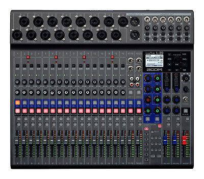 New Zoom LiveTrak L-20 Digital Mixer Authorized Dealer Best