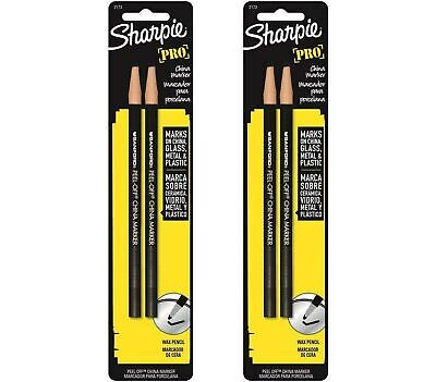 Sharpie 2173pp Peel-off China Markers 4 Black Markers