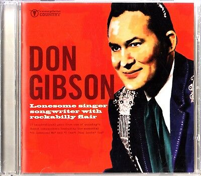 DON GIBSON -Lonesome Singer Songwriter, Rockabilly Flair CD (Best Of/Country)