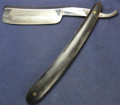 "Wade & Butcher ""Diamond Edge"" 13/16 Straight Razor w/ Etched Blade - Vintage"